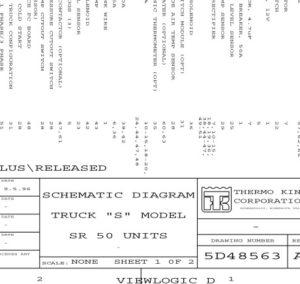 "Схема THERMO KING TRUCK ""S"" MODEL SR 50"