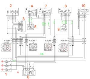 Схема электростеклоподъёмников, электропривода и обогрева зеркал ГАЗель Next.