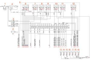 Схема блока реле и предохранителей под капотом ГАЗон Next.