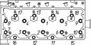Моменты затяжки основных резьбовых соединений двигателей семейства ЯМЗ-530 CNG.