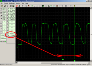 Частота переключения выходного сигнала лямбда-зонда составляет ~1,2Hz