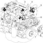 Места установки датчиков на двигателях семейства ЯМЗ-530 CNG.