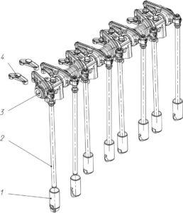 Механизм газораспределения двигателей семейства ЯМЗ-530 CNG.