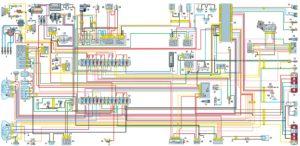 Схема электрооборудования автомобиля ГАЗель с двигателем УМЗ-4215 (панель приборов нового образца).
