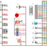 Схема электрических соединений жгута проводов переднегоВАЗ 2170 (Приора).