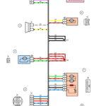 Схема электрических соединений жгута проводов дополнительного заднего правого (передней правой двери) ВАЗ 2170 (Приора).