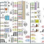 Схема электрических соединений жгута проводов заднего автомобиля Лада Калина 11194.