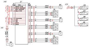 Электрическая принципиальная схема автомобиля Валдай с двигателем Cummins Е-4.