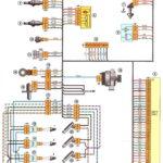Соединения жгута проводов системы управления двигателем Лада Веста.