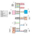 Схема электрических соединений жгута проводов дополнительного заднего левого (передней левой двери) ВАЗ 2170 (Приора).