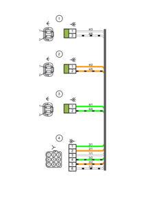 Схема электрических соединений жгута проводов датчиков системы парковкиВАЗ 2170 (Приора).
