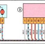 Соединения жгута проводов задней двери Лада Веста.