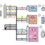 Схема электрических соединений жгута проводов дополнительного заднего правого (задние двери) автомобилей Лада Калина 11174, 11184, 11184.