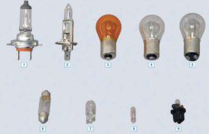 Лампы, применяемые в автомобилеГАЗель Бизнес.