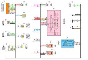 Схема электрических соединений жгута проводов заднего ВАЗ 2170 (Приора).