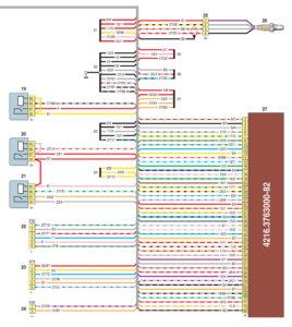 Схема соединений жгута проводов системы управления двигателем ГАЗель Бизнес