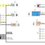 Схема электрических соединений жгута проводов заднего дополнительного(двери задка)ВАЗ 2170 (Приора).