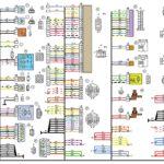 Схема электрических соединений жгута проводов заднего автомобиля Лада Калина 11174.