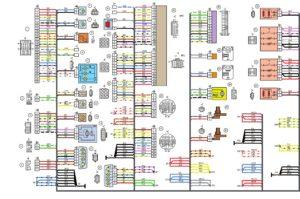 Схемы электрических соединений жгута проводов заднего автомобилей Лада Калина 11184.