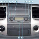 Блок управления системой отопления и вентиляции воздуха ГАЗель Бизнес.