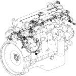 Схема прокладки жгутов двигателей ЯМЗ-5340, ЯМЗ-536.