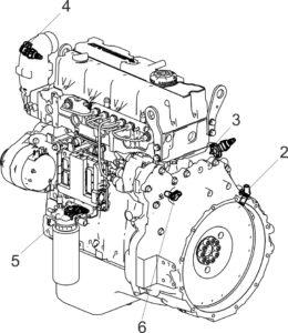 Места установки датчиков двигателей ЯМЗ-5340, ЯМЗ-536.