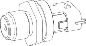 Датчик давления топлива в рампе двигателей ЯМЗ-5340, ЯМЗ-536.