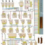 Схема соединений системы управления двигателем ВАЗ-21114 с распределённым впрыском топлива под нормы токсичности Евро-3 (контроллер М7.9.7).