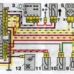 Схема включения наружного освещения автомобилей семейства ВАЗ-2110.