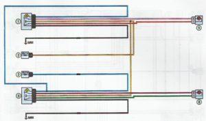 Схема подключения электростеклоподъёмников Лада Ларгус.
