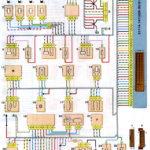 Схема соединений системы управления двигателем ВАЗ-21114 с распределённым впрыском топлива под нормы токсичности Евро-2 (контроллер М7.9.7).
