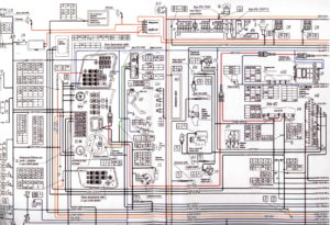 Схема электрических соединенийавтобуса ЛиАЗ-621321.