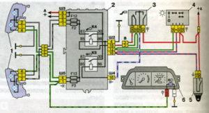 Схемы подключения блок-фар с однонитиевыми лампами ближнего света автомобилей семейства ВАЗ-2110.