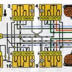 Схема включения электростеклоподъёмников дверей автомобилей семейства ВАЗ-2110.