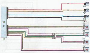 Схема подключения динамиков акустической системы Лада Ларгус.