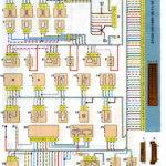 Схема соединений системы управления двигателем ВАЗ-21124 с распределённым впрыском топлива под нормы токсичности Евро-3 (контроллер М7.9.7).