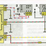 Схема системы обогрева заднего стекла автомобилей семейства ВАЗ-2110.