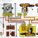 Схема системы блокировки дверей автомобилей семейства ВАЗ-2110.
