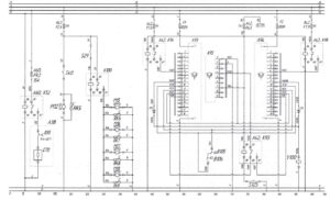 Схема осушителя воздуха, вентилятора кабины, вентилятора салона и кондиционера Aerosphere Midi 1840автобуса ЛиАЗ-621321.