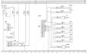 Схема жидкостного подогревателя Termo 350 и системы пожаротушения АСОТПавтобуса ЛиАЗ-621321.
