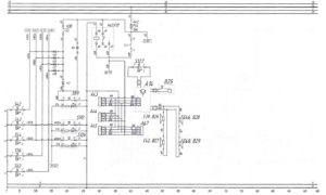 Схема радиоаппаратуры, маршрутоуказателя и звуковой сигнализацииавтобуса ЛиАЗ-621321.