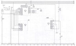 Схема приборов и системы блокировки движенияавтобуса ЛиАЗ-621321.