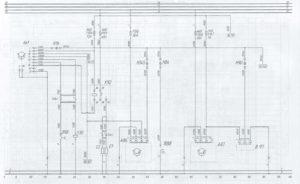 Схема системы подогрева всасываемого воздуха и топливных фильтровавтобуса ЛиАЗ-621321.