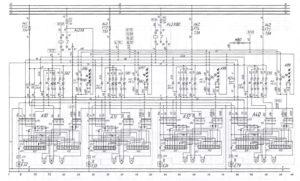 Схема электрооборудования дверейавтобуса ЛиАЗ-621321.