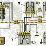 Схема включения очистителей фар автомобилей семейства ВАЗ-2110.