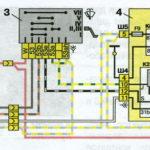 Схема включения омывателя и очистителя ветрового стекла автомобилей семейства ВАЗ-2110.