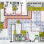 Схема включения указателей поворота и аварийной сигнализации автомобилей семейства ВАЗ-2110.