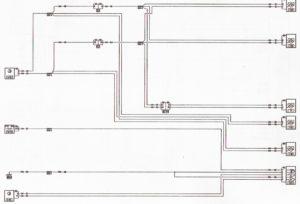 Схема управления электроприводами замков дверей Лада Ларгус.