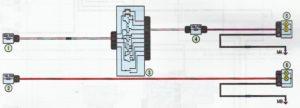 Схема подключения габаритных огней и фар Лада Ларгус.