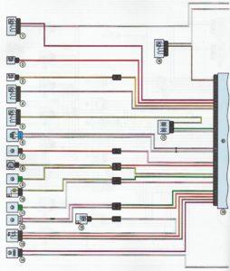 Схема системы управления двигателем K7M Лада Ларгус.